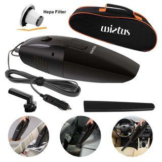 1322) Wietus Portable Handheld Car Vacuum Cleaner with a Portable Bag and 4.5M Power Cord