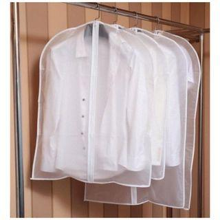 Folding Dust Bag Foldable Storage Cover Protector Suit Shirt Blazer White Cloth Top