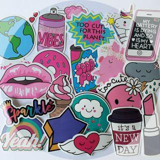 Pink-themed Stickers