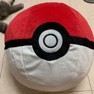 超大 精靈球 cushion 寵物小精靈 公仔 namco