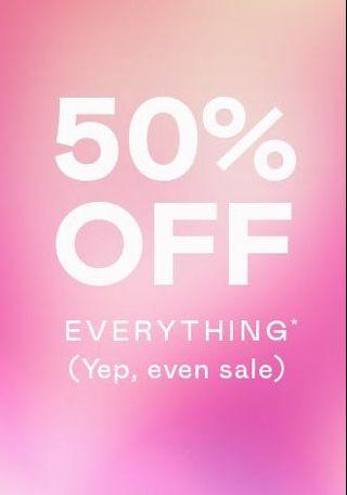 Special Offer! 50% OFF Everything!