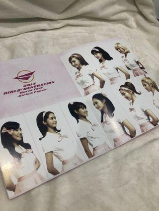 Girls Generation Girls & Peace Tour Official Photobook Brochure