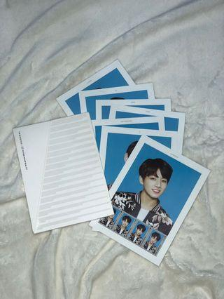 BTS Official Merch The Wings Tour 'Postage Stamp Seal Set'