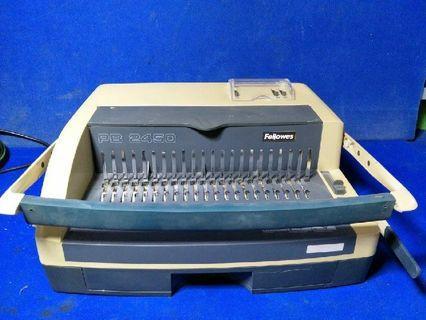 Fellowed PB2450 Comb Binding Machine @$80 Each