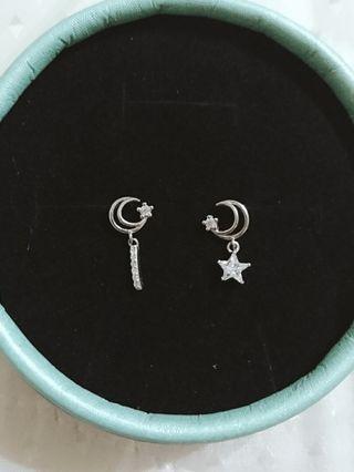 🚚 香港正生月亮耳環