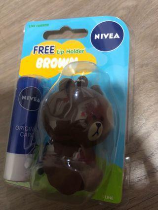 Brand New Line Brown Nivea Lipbalm