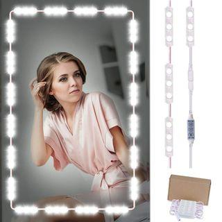 1327) Binen Hollywood Style Mirror LED Light, 9.8FT Vanity Mirror Lights Kit Dressing Table Light with Power Supply and Touch Dimmer Switch (Mirror Not Included)