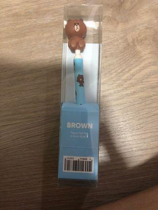 Genuine Line Brown 0.4mm Black Gel Pen
