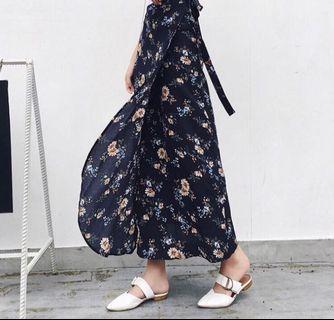 BNWOT wraparound floral skirt