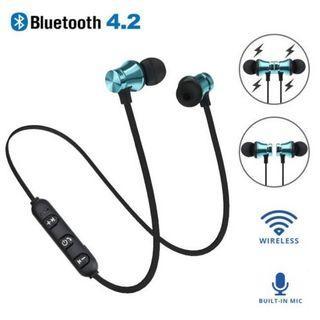 Bluetooth 4.2 Stereo Earphone Headset Wireless Magnetic In-Ear Earbuds Headphone
