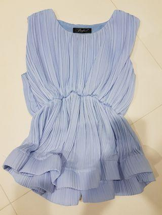 Baby blue peplum top