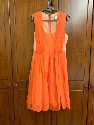 Carven orange crepe Dress