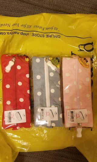 NaRaYa 小 make up case (100%)全新 紅,粉紅,粉藍色