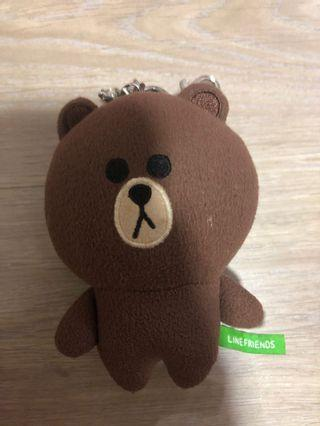 Authentic Line Brown Bear keychain