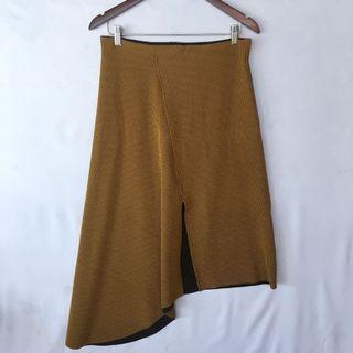 ZARA textured Asymmetrical skirt