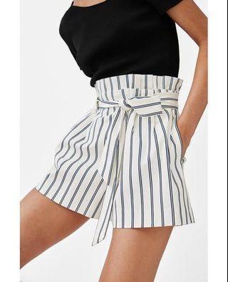 ZARA paperbag bermuda shorts