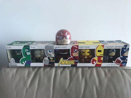 (全新未開封)Avengers 套裝 Bearbrick Hot toys