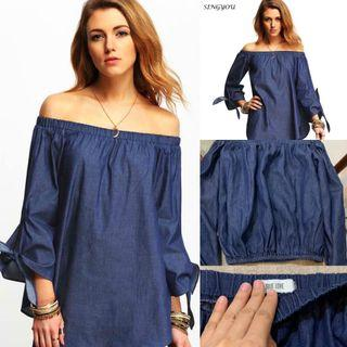 Auth💯 True Love Chambray Off Shoulder ( Retails for 1,500)