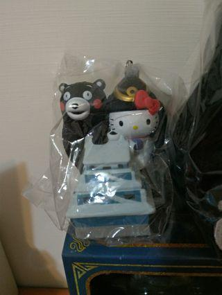Hello kitty 熊本熊 熊本城吊飾