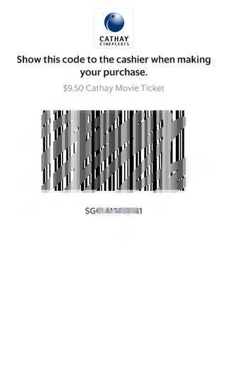 Cathay Movie tickets