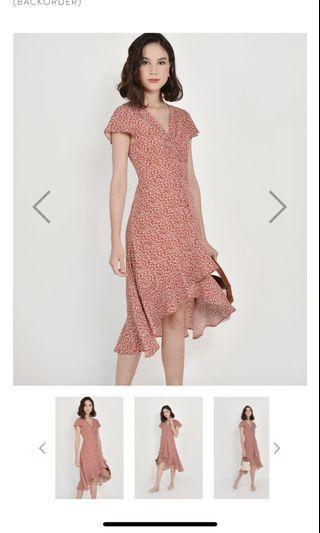 BNWT HVV Kacey Floral Asymmetrical Dress