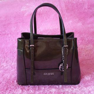 Guess Dark Green Delaney Medium Bag Original