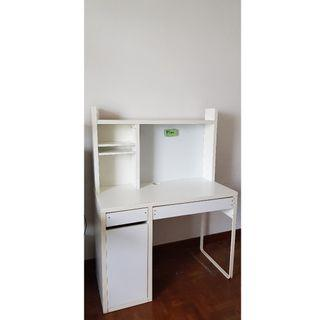 Small white IKEA study table