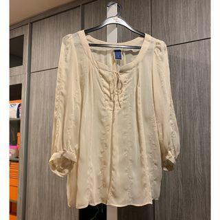 🚚 The Emporium Top Beige Lace (Brand New)