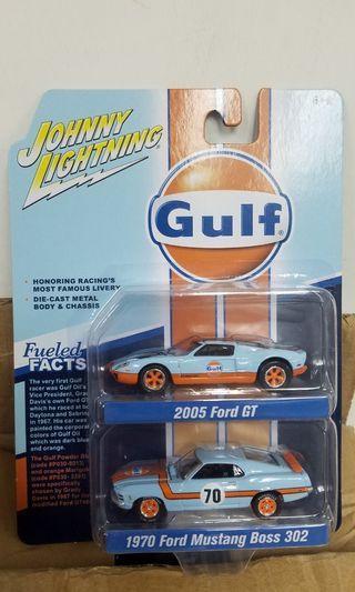 福特 野馬 1/64 Johnny Lightning Mustang Ford GT Gulf (非 tomica hot wheels hotwheels mini gt tarmac tiny)