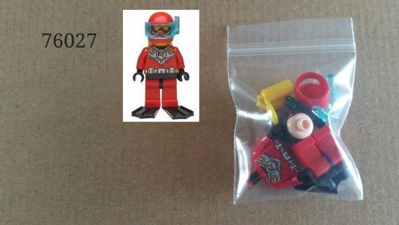 全新未砌 Lego 76027 DC Universe Super Heroes - Scuba Robin人仔 1隻
