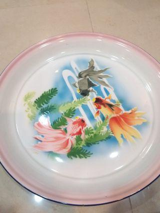 51cm Large steel china plate