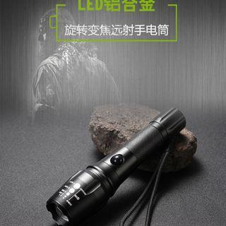 超亮強光手電筒 可伸縮變焦 5段式閃爍T6 LED 地震天災停電-有備無患 1689批發【一件代發、代購、物流集運】