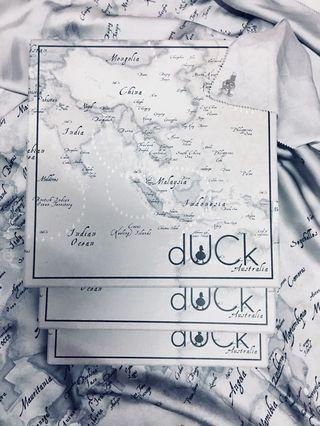 The World Map Duck In Grey