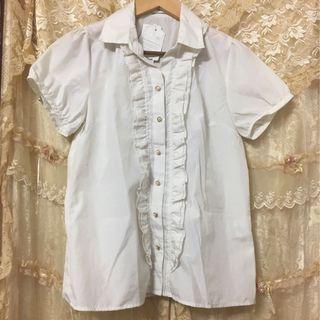 🆕全新日系米黃色珍珠恤衫 返工衫 Top