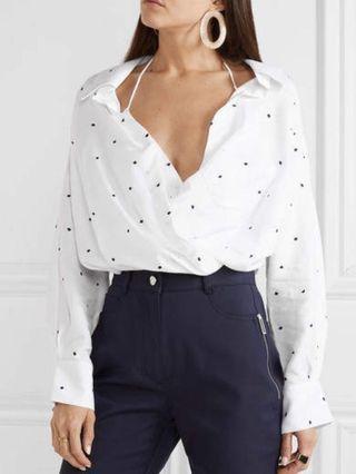 Jacquemus polka dots cropped shirt
