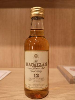 80's Macallan 12 50ml 雪梨桶 Sherry oak 酒版 酒辦 草字 保養極好 麥卡倫