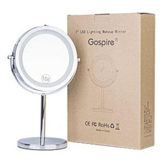 Item#185 - Gospire 10x Magnified Lighted Makeup Mirror
