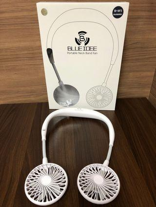 100% 全新 BLUEIDEE Portable Neck Band Fan 韓國頸戴式雙頭電風扇 (White)