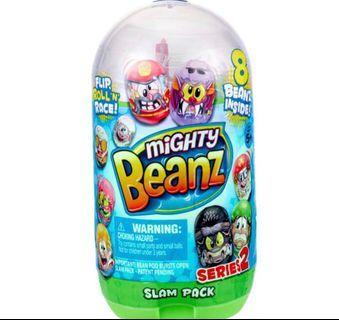 🚚 Mighty Beanz Flip, Roll 'N Race Slam Pack NEW SERIES 2