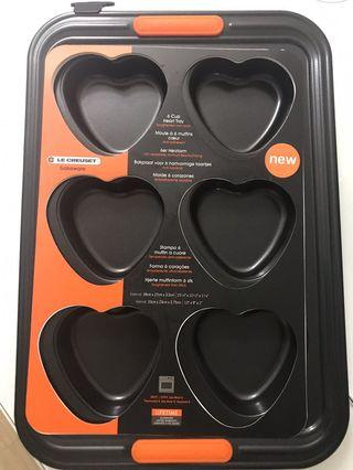 Le Creuset bakeware heart shaped muffin