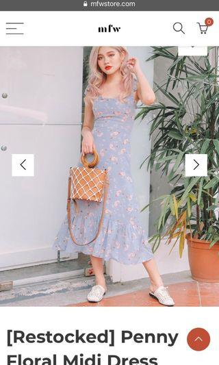 LF mfw Penny Floral Midi Dress in size S