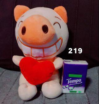 全新可愛心形豬豬BB中小型公仔