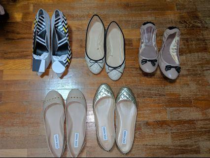SALE BRANDED FLATS AND HEELS