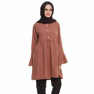 FREE ONGKIR Isty Pleated Tunic by Mybamus Size M