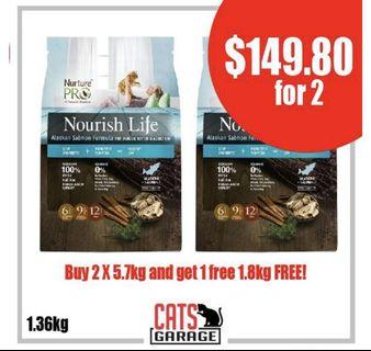 [GSS PROMO] - Nurture™ Pro Nourish Life - Alaskan Salmon Formula For Indoor Kitten & Adult