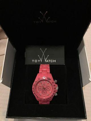 ToyWatch Fluo Disco Chronograph Pink Plasteramic Womens watch Model# FLD09PS