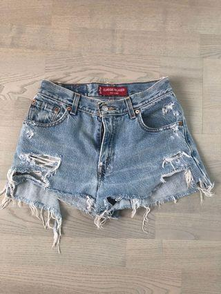 Levi's high-waisted Jean shorts XS