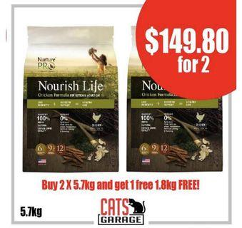[GSS PROMO] - Nurture™ Pro Nourish Life - Chicken Formula for Kittens & Adults