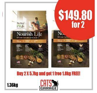 [GSS PROMO] - Nurture™ Pro Nourish Life - Chicken Formula For Cat Mature 7+