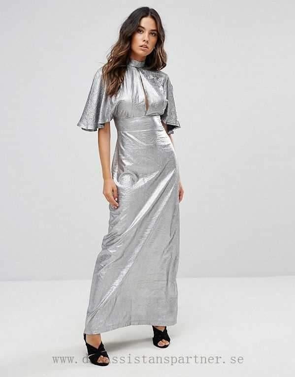 銀色 復古 長禮服 小洋裝 派對 婚禮 晚宴 金屬 低胸 v領 性感